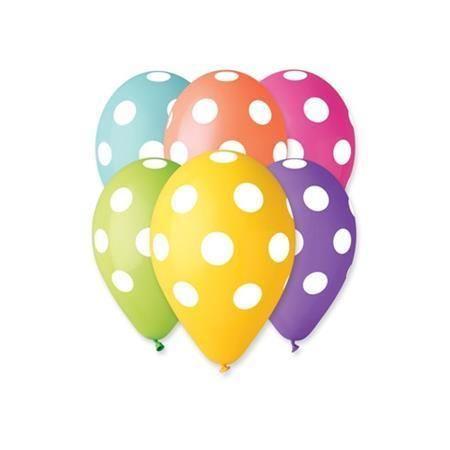 Balónek, puntíky, 30 cm ,balení 10 ks