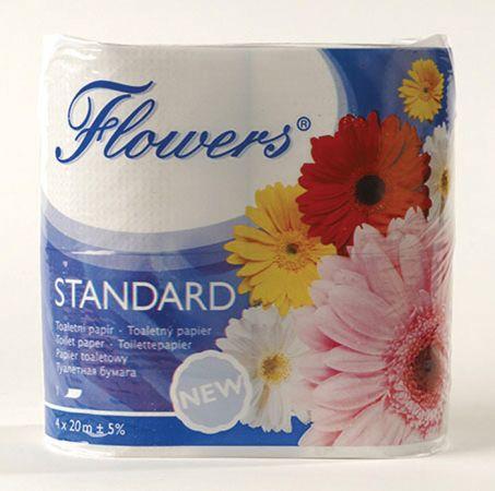 Flowers Standard toaletní papír šedý 1-vrstvý 1ks