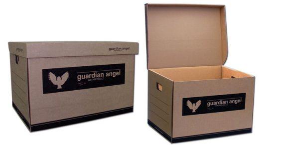 Kontejner archivační Guardian Angel - přírodní hnědá