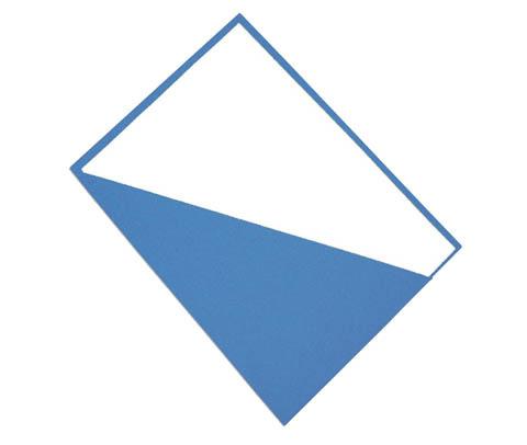 Desky se šikmým rohem - modrá