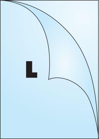 Zakládací obal A4 silný - tvar L čirý / 180 my - extra silné / 100 ks