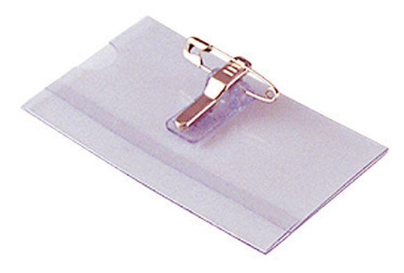 Jmenovka s klipem Concorde - 6 x 9 cm / na šířku / s klipem i špendlíkem