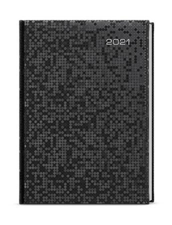 Baloušek Tisk David Saturn A5 denní 2021 černá