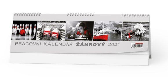Baloušek tisk 2021 Žánrový - stolní kalendář pracovní BSB4