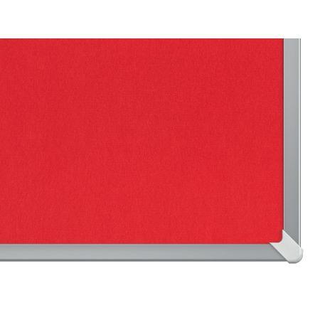 Nástěnka textilní Widescreen 85 / červená