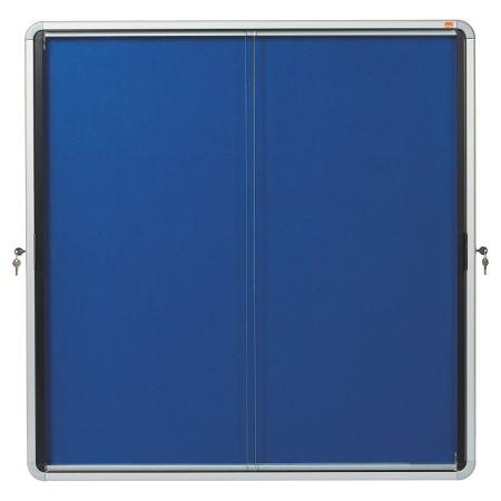 Vitrína vnitřní / s posuvnými dveřmi / FAB 12xA4 / modrá