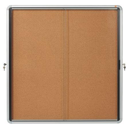 Vitrína vnitřní / s posuvnými dveřmi / 12xA4 / korek