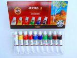 Souprava barvy 162703 10 barev akrylové Koh-i-noor 16ml