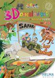 3D omalovánky Safari Krokodýl + lev A4