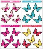 Dekorace okenní s glitry motýli 33x30 cm /989/