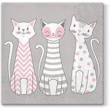 Papírový ubrousek Glam Cats