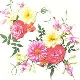 Papírový ubrousek Delicate Flowers Composition