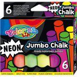 Colorino chodníkové křídy Neon Jumbo 6 barev