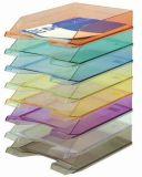 Odkladač, transparentní, fialový, plastový, DONAU