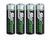 Baterie, AA (tužková), 4 ks, SKY, Green ,balení 4 ks