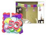 Girlanda k 50. narozeninám, 400x12x12 cm