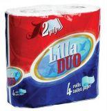 Toaletní papír, 2vrstvý, 4 role, Lilla Duo ,balení 4 ks