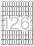 Etikety, zaoblené rohy,  8x20 mm, 1890 ks/bal., A5, APLI ,balení 15 ks