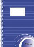 Blok na psaní, linkovaný, drátěná kroužková vazba, A5, 70 listů, VICTORIA