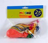 Nafukovací balónky, perleťové, mix barev, 26 cm ,balení 25 ks