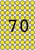 Etikety, kruhové, žlutá, průměr 19mm, 560 ks/bal., A5, APLI ,balení 8 ks