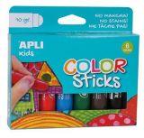 Temperové tyčinky Kids, 6 různých barev, APLI  ,balení 6 ks