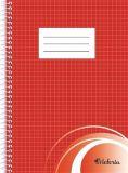 Blok na psaní, čtverečkovaný, drátěná kroužková vazba, A5, 70 listů, VICTORIA