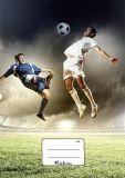 Školní sešit 440 Fotbal, A4 čistý, 40 listů, VICTORIA