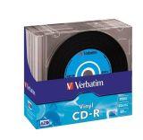 CD-R 700MB, 80min., 52x, Vinyl, DLP Crystal AZO, Verbatim, slim box ,balení 10 ks
