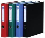 Pořadač dvoukroužkový, D kroužky, červený, 45 mm, A4, PP/tvrdý karton, DONAU