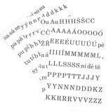 Písmena a číslice - sada písmen
