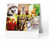Kalendář stolní ZVÍŘATA  -  BSL10