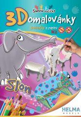 3D omalovánky Slon A4