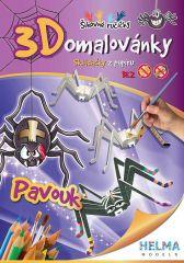 3D omalovánky Pavouk A4