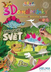 3D omalovánky Dinosauří svět A4