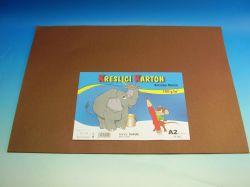 Karton kreslící A2/10 ks HNĚDÝ 180g / ks