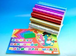 Blok barevných papírů A4 Holograf 8 ks