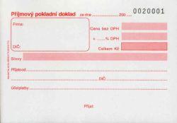 Doklad příjmový pokl.čísl.A6, propis., 50l, /PT022/