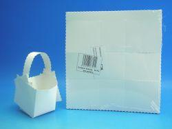 Košíček svatební papírový bez potisku 50ks