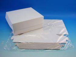 Dortové krabice 220x220x90mm, 3ks