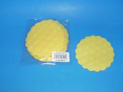 Rozeta papírová Žlutá 9cm 23102012