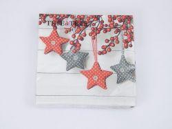 Ubrousky TL641000 Vánoční hvězdy 33x33cm