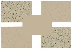 Papír vánoční - kraftový 3 x 0,7 m. , papír 80 g