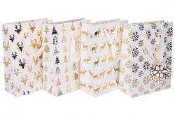 Taška dárková vánoční 23,5x17,5x8cm / 874551