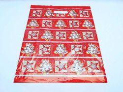 Taška PE Vánoční červená fantazie 35x46 cm s  průhmatem
