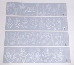Dekorace okenní pruhy bílé 64x15 cm /6838/