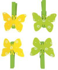 Motýl na kolíčku 4 cm, 4 ks v sáčku /8881/