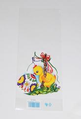 Sáček velikonoční 12x30cm Kuřátko s pomlázkou
