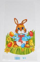 Sáček velikonoční  20x40 cm  Zajíc s mašlí