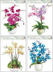 Dekorace okenní orchideje 38x30 cm /887/